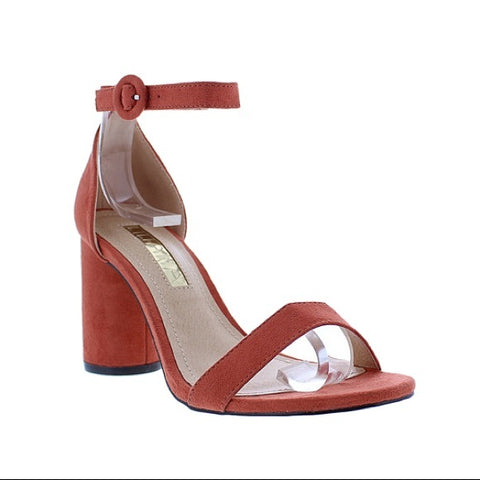 Daki Red Orange Cinnamon Round Heels