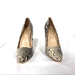 Snake Beige Heels Pumps - The Shoe Trunk