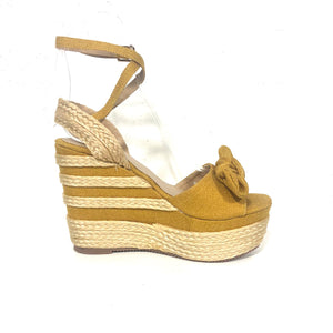 Xiomara Yellow Marigold Wedges Heels - The Shoe Trunk