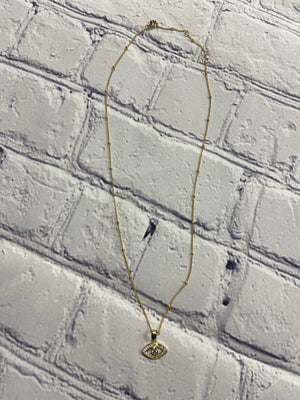 "Gold plated Sterling Silver Necklace ""Blue eye"""