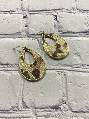Camouflage Camo Dangle Earrings