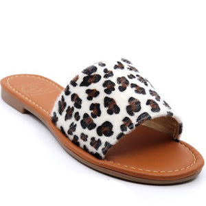 Lulu-4 Sandals White Leopard Sandals