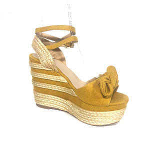 Yellow High Heels Yellow Sandals Yellow Wedges  - The Shoe Trunk