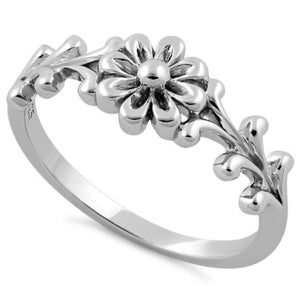 Sterling Silver Ring Flower Ring