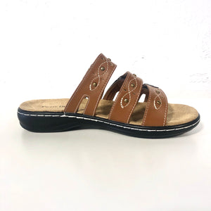Cami Brown Strappy Sandals - The Shoe Trunk