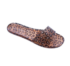 Jelli Leopard Jelly Sandals - The Shoe Trunk