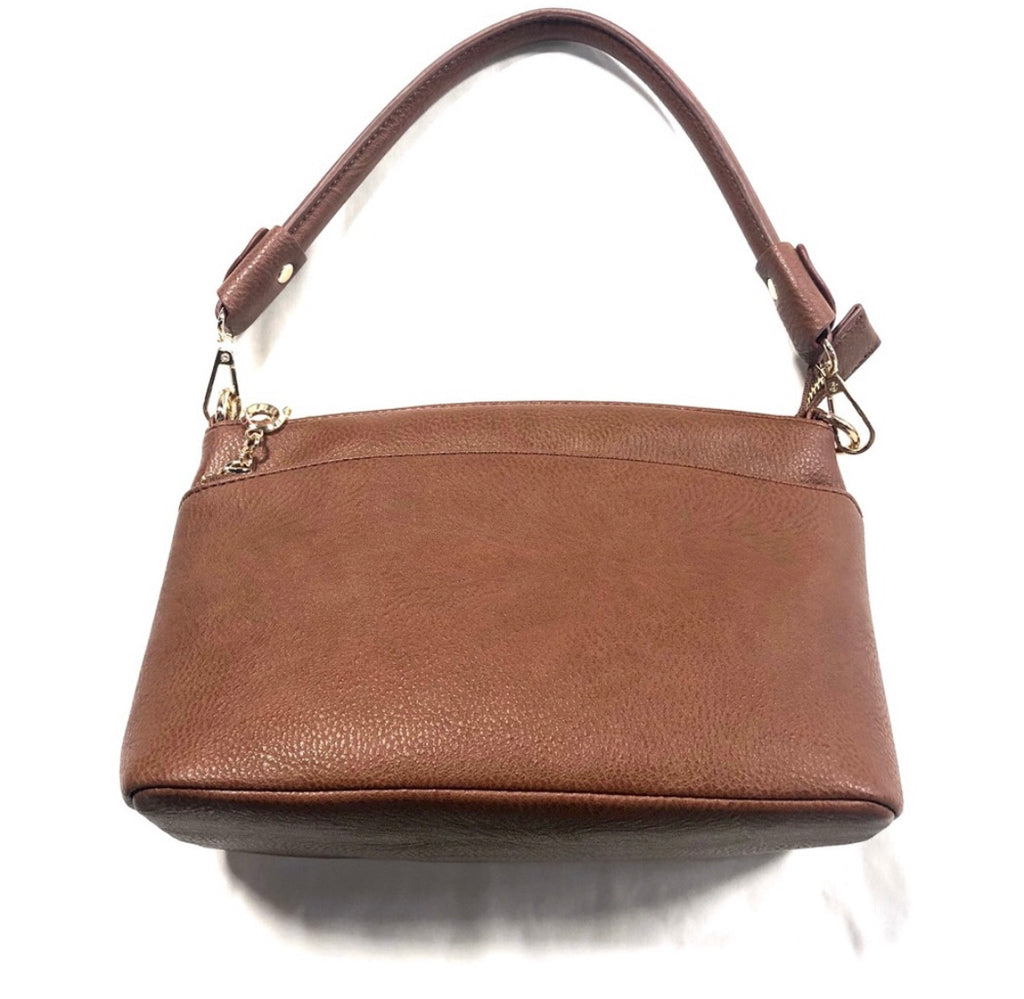 Brown Bag Double Zipper Small Purse