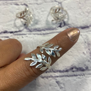 Midi Ring Sterling Silver Wrap- Around Ring