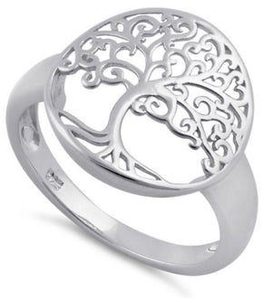 Sterling Silver Tree of Life Ring Jewelry