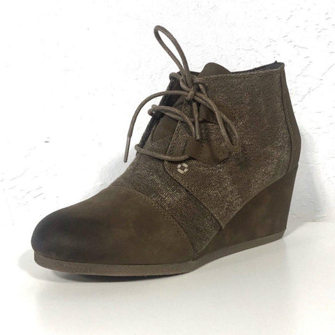 Sabrina Taupe Lace-Up Boots Booties - The Shoe Trunk