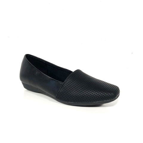 Laurel Black Flats Loafers - The Shoe Trunk