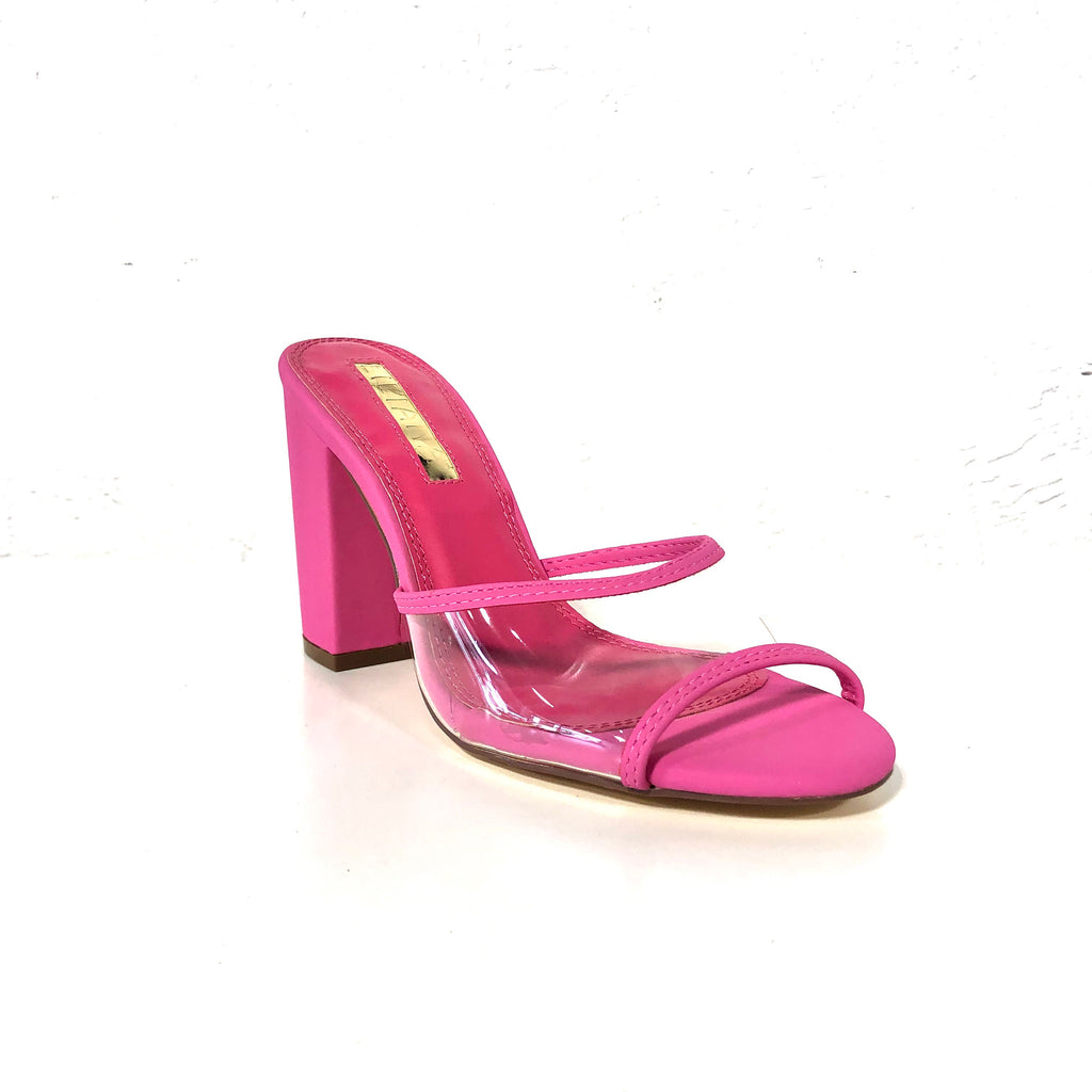 Kana Pink Block Heels - The Shoe Trunk