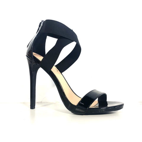Jesse Black Patent Stiletto Heels