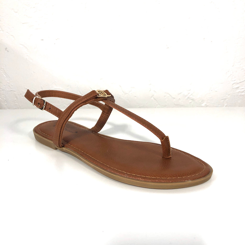 Babbie Tan Thong Sandals Flats - The Shoe Trunk