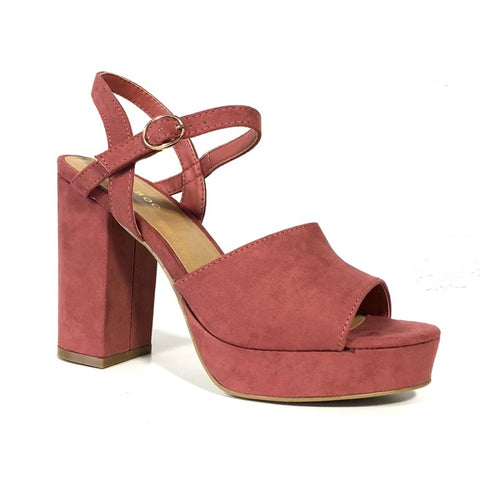 Current Mauve Platform Heels - The Shoe Trunk