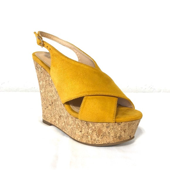 Anneka Yellow Wedges - The Shoe Trunk