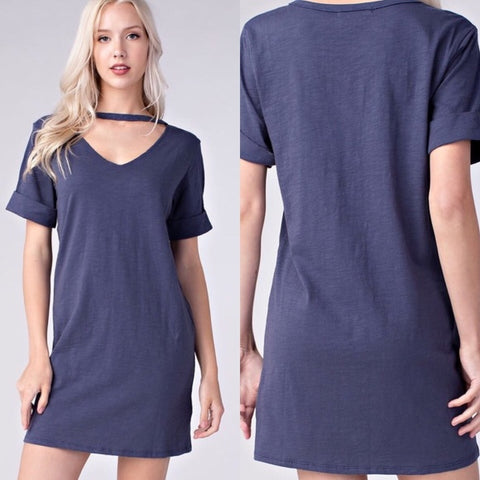 Honey Punch Blue Cotton Dress