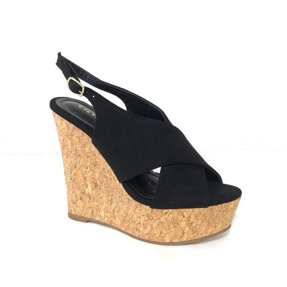 Anneka Black Wedges - The Shoe Trunk