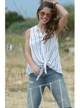 Load image into Gallery viewer, Casual Front Tie Sleeveless Top