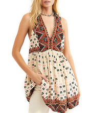 Load image into Gallery viewer, Free People Charlotte Sleeveless Printed Top Tunic