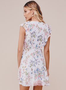 Samantha Ruffled Mini Floral Dress