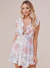 Load image into Gallery viewer, Samantha Ruffled Mini Floral Dress