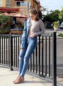 Front Button Jeans