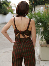 Load image into Gallery viewer, Leona Olive Striped Jumpsuit
