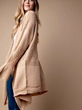 Load image into Gallery viewer, Texture Mix Long Boho Cardigan