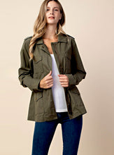 Load image into Gallery viewer, Women's Olive Utility Jacket