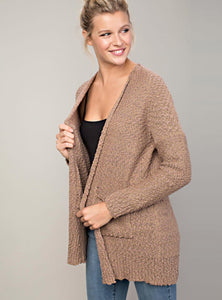 Open Front Knit Cardigan (3 colors available)
