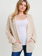 Load image into Gallery viewer, Statement Sleeves Open Front Cardigan - Beige