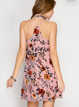 Load image into Gallery viewer, Floral Velvet Dress