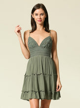 Load image into Gallery viewer, Emelie Sundress With Lace Top - Olive
