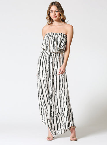 Tube Ruffled Jumpsuit