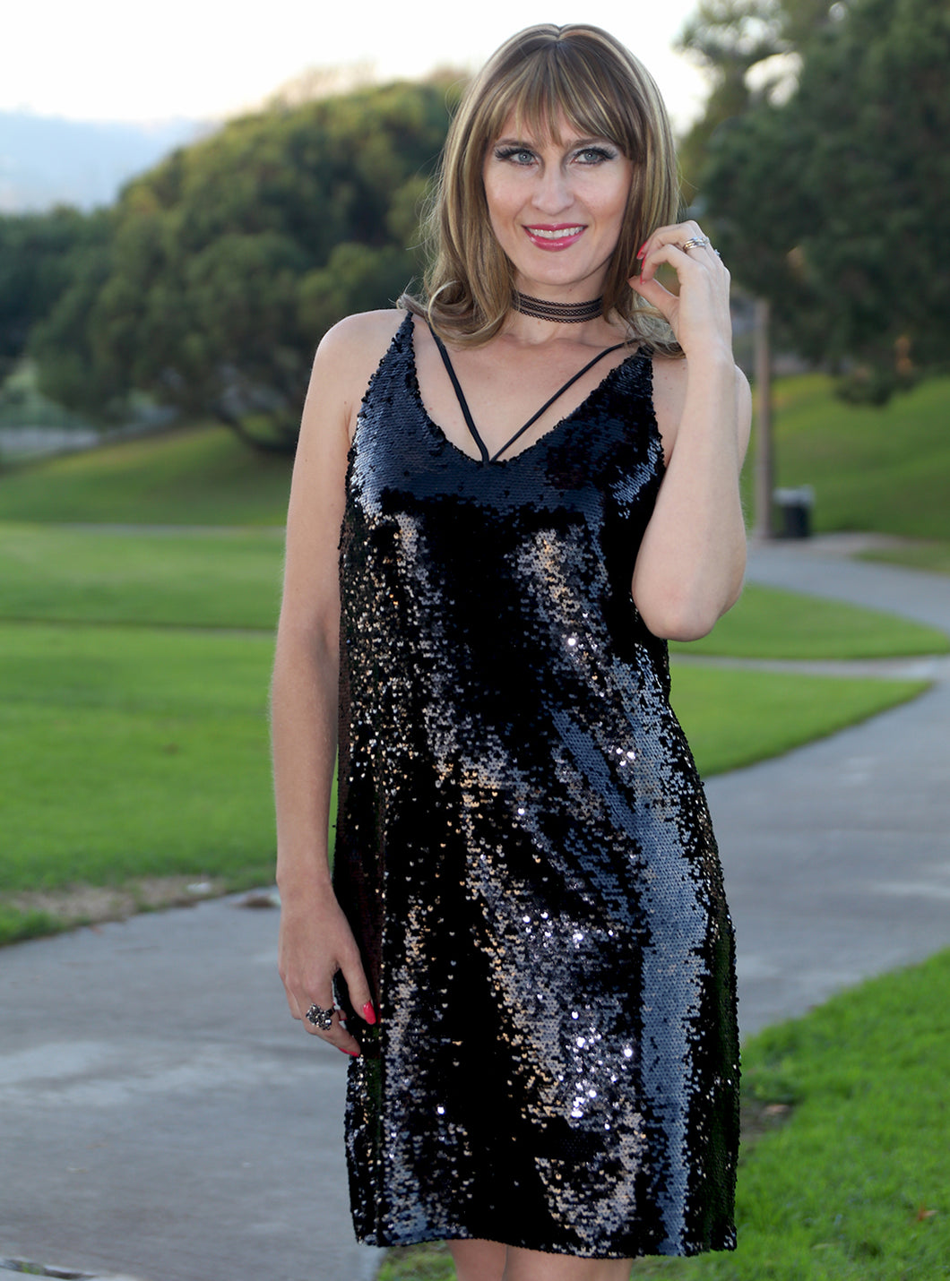 Scarlet Sequins Party Dress