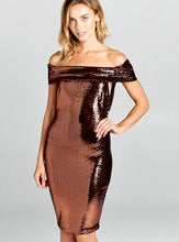 Load image into Gallery viewer, Pixel Metallic Dress