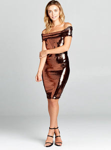 Pixel Metallic Dress