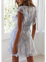 Load image into Gallery viewer, Amanda Ruffled Mini Floral Dress