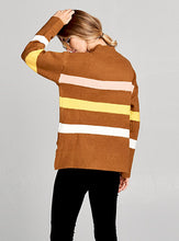 Load image into Gallery viewer, Color Block Mustard Sweater Top
