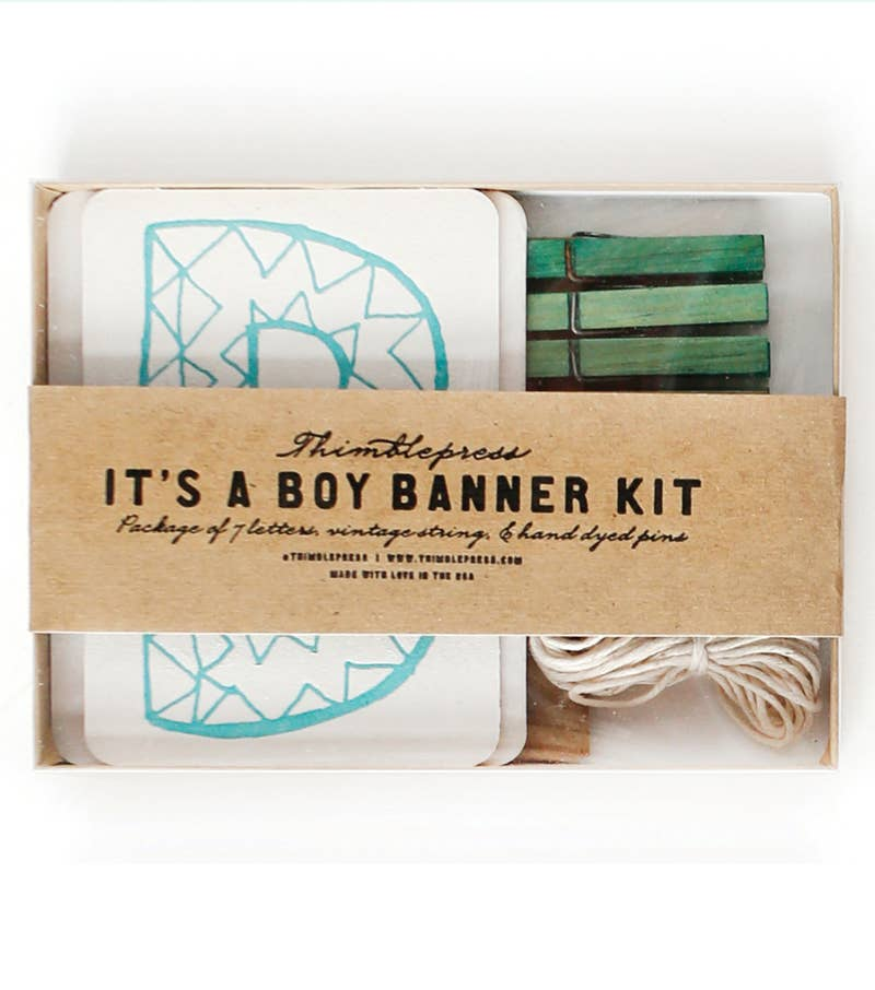 It's A Boy! DIY Banner Kit