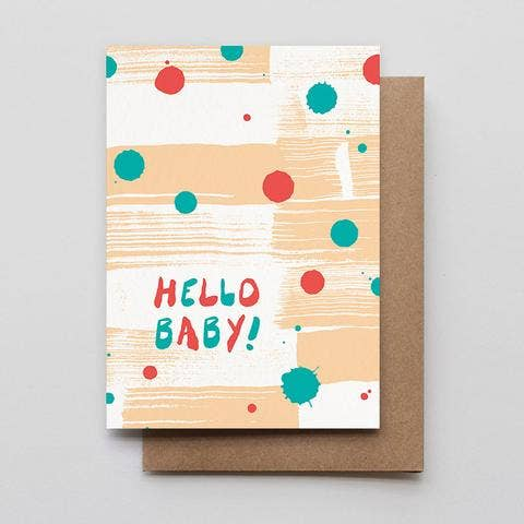 Hello Baby Brushies Card
