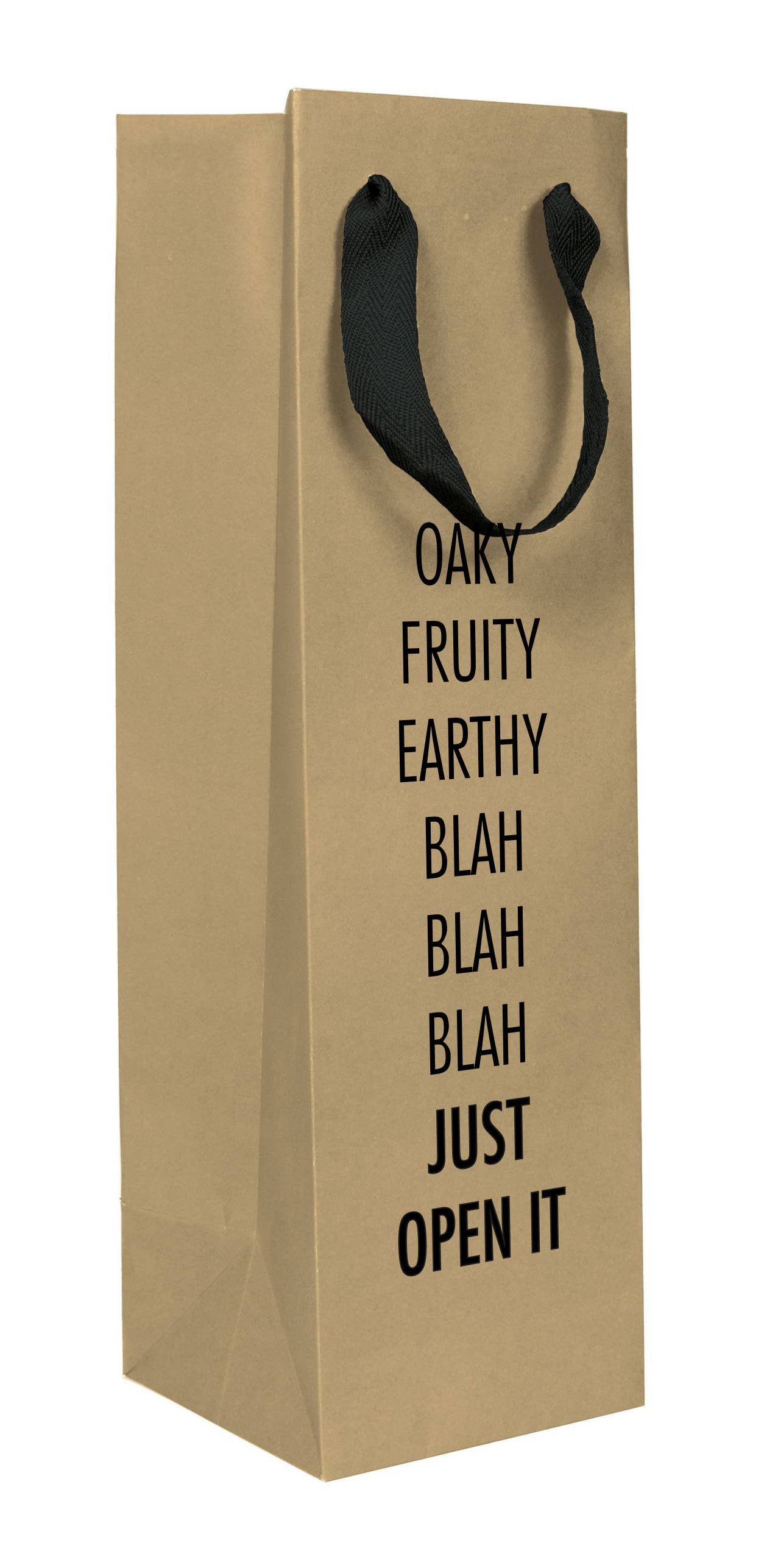 Blah Blah Blah Wine Bag