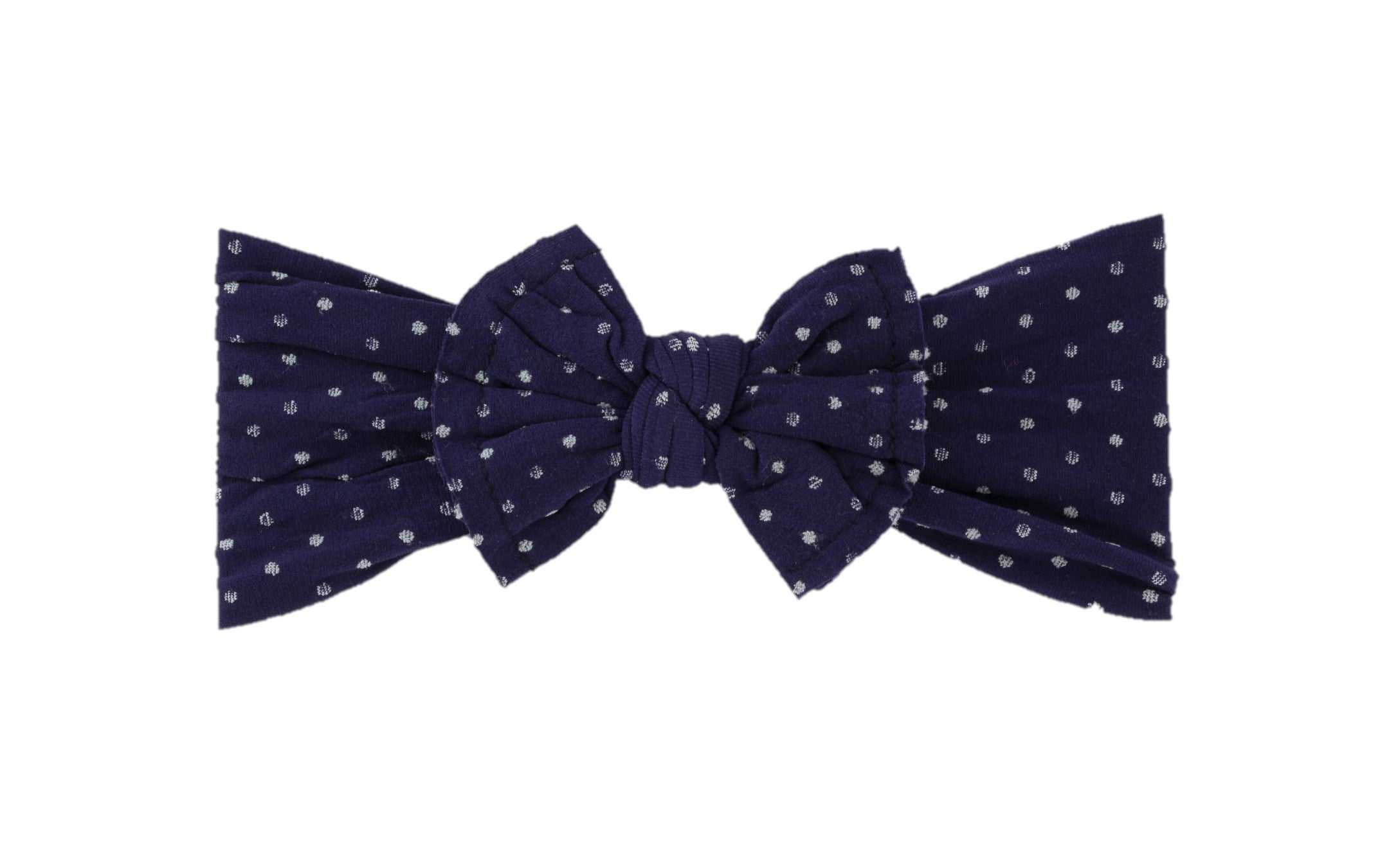Navy Dot Nylon Baby Headband