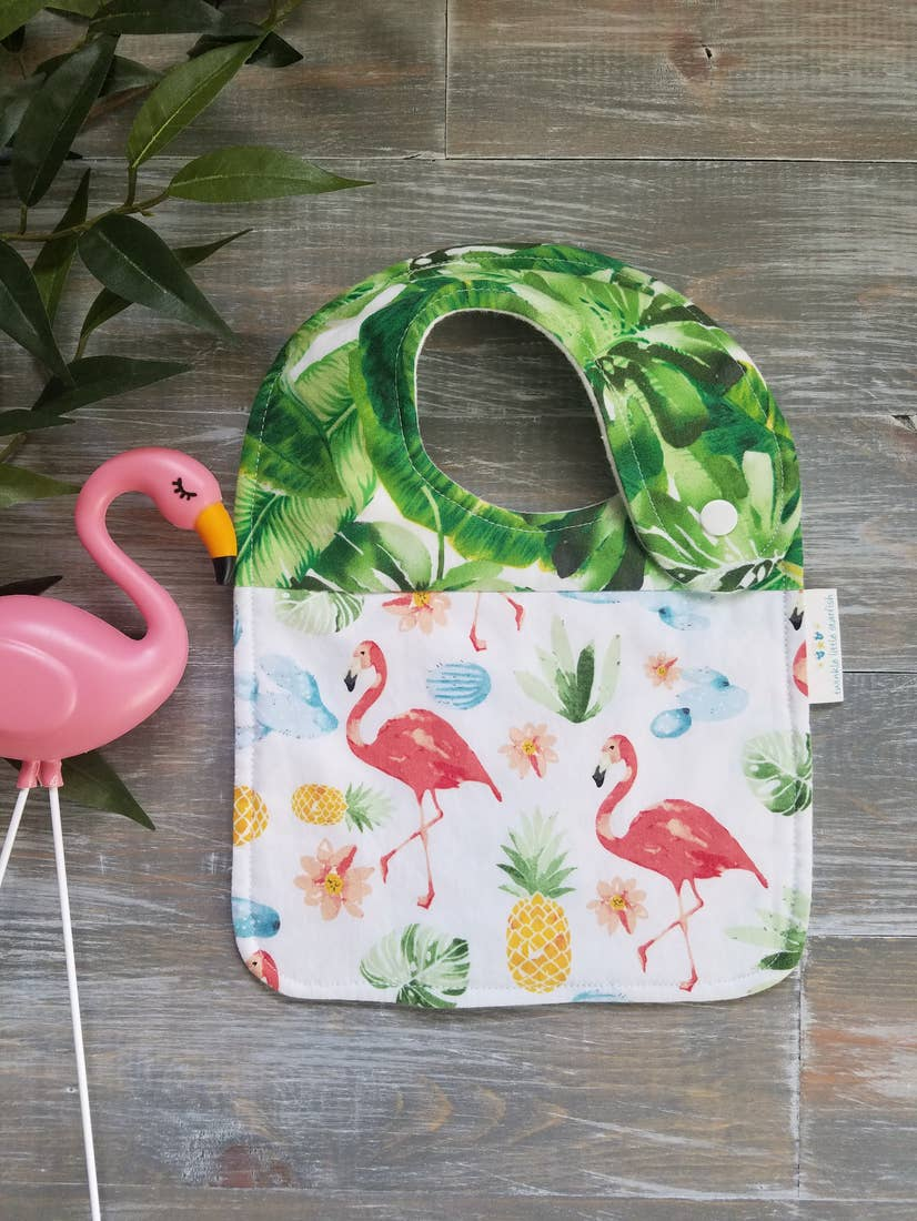 Tropical Flamingo Drool Bib