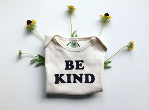 Be Kind Baby One-piece / Black Ink