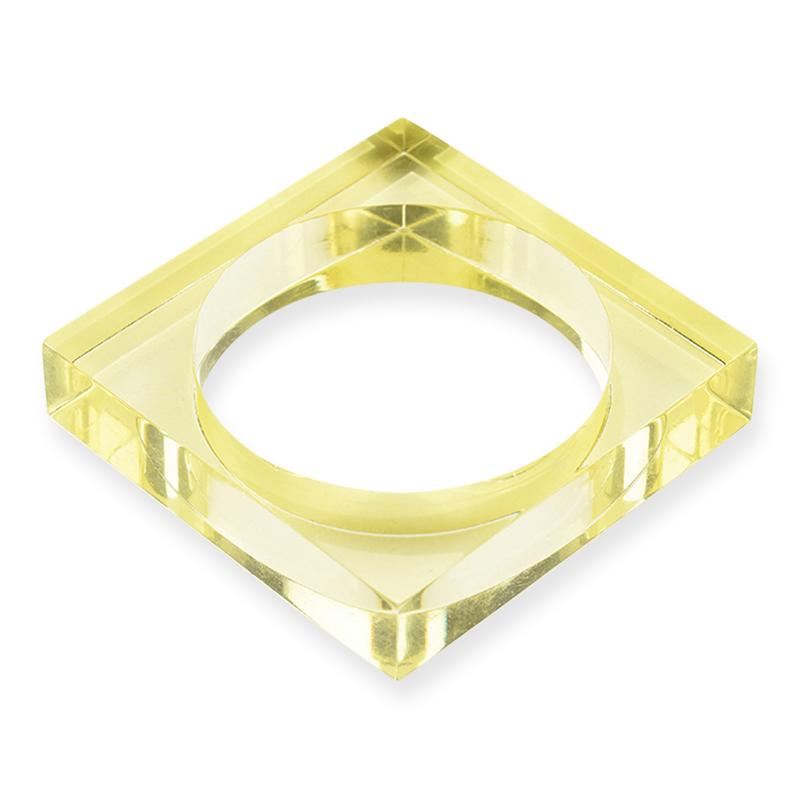 Square Lucite Bangle