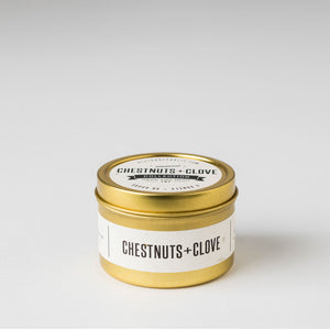 Chestnut + Clove Travel Tin Candle