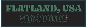 Flatland, USA Sticker