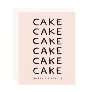 Cake Birthday Greeting Card
